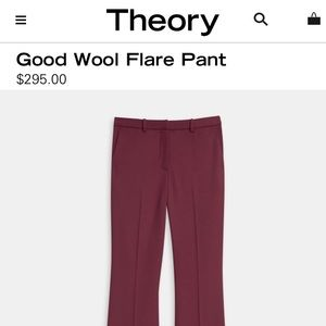 Theory Mulberry Lauren Tailor Cuff Wool Pants